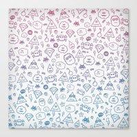 Cute & Sweet Monsters / … Canvas Print