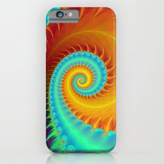 Toothed Spiral in Turquoise and Gold iPhone 6 Slim Case