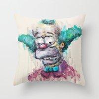 Krusty Throw Pillow