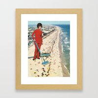 Dry Cleaning Framed Art Print