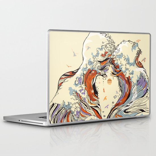 The Wave of Love Laptop & iPad Skin