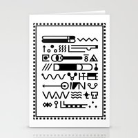 Blood On The Wall Stationery Cards