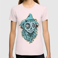 scared crow Womens Fitted Tee Light Pink SMALL