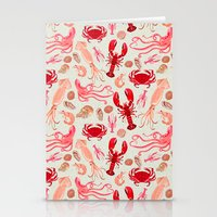 Crustaceans sea life illustration by Andrea Lauren  Stationery Cards