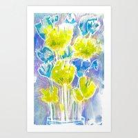 Chartaqua Blooms Art Print