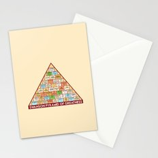 ron swanson's pyramid of greatness Stationery Cards