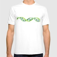 DNA Mens Fitted Tee White SMALL
