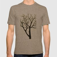 WHITE TREE Mens Fitted Tee Tri-Coffee SMALL