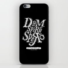 Dum Spiro Spero iPhone & iPod Skin