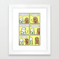 Antics #339 - no connection whatsoever Framed Art Print