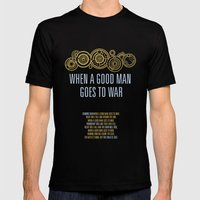Demons Run When A Good Man Mens Fitted Tee Black SMALL