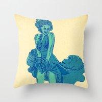 - summer marilyn - Throw Pillow