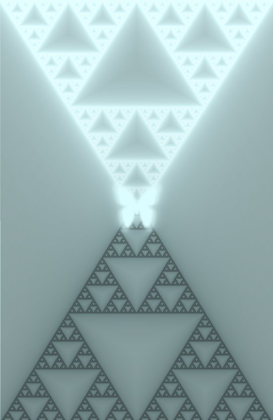 Triangles Glow Art Print