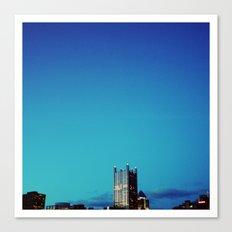 blue pittsburgh.  Canvas Print
