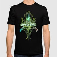By My Shaggy Bark! Mens Fitted Tee Black SMALL