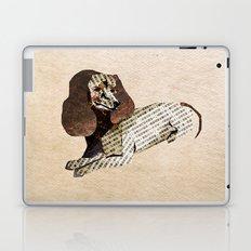 Dog Newspaper Collage Laptop & iPad Skin