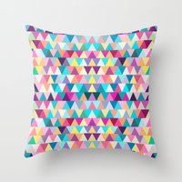 Triangles #4 Throw Pillow