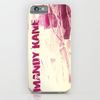 iPhone Cases featuring RARE MANDY KANE PROMOTIONAL ART - 2003 by mandykanemerch