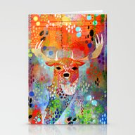The Deer In The Thicket Stationery Cards