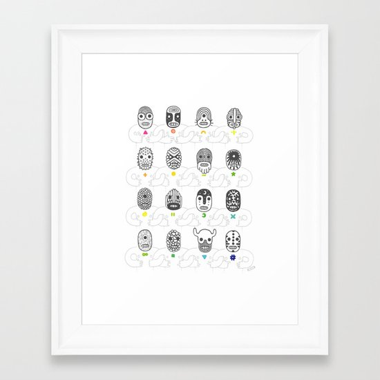 (The Ghosts of our) Forefathers Framed Art Print