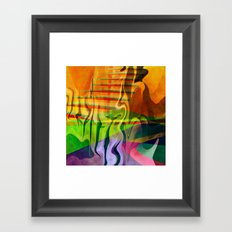 Multicolored abstract 2016 / 013 Framed Art Print