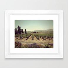 Red Mountain Framed Art Print
