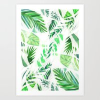 Leaf tropical pattern  Art Print