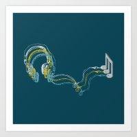 Plug In The Music Art Print