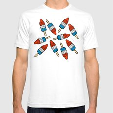 Rocket Popsicle Pattern Mens Fitted Tee White SMALL