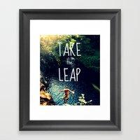 TAKE THE LEAP  Framed Art Print