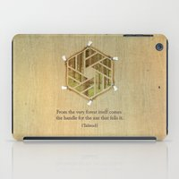 Forest & Axe — Illustrated Quote iPad Case