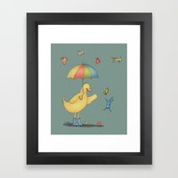 It's raining cats and dogs Framed Art Print