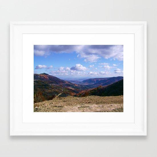 FRENCH MOUNTAIN Framed Art Print