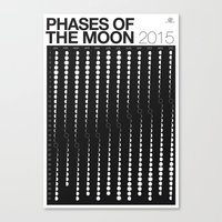 2015 Phases of the Moon Calendar Canvas Print