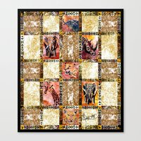 Quilted African Life. Canvas Print