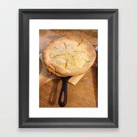Farm House Pie Framed Art Print