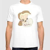 Am I Pretty? Mens Fitted Tee White SMALL