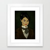 The picture of Sasha Gray Framed Art Print