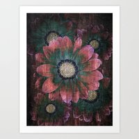 hippie flowers Art Print