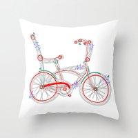Aztec Bicycle Throw Pillow