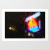 Boston Rain Art Print