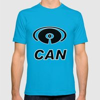 I Can Mens Fitted Tee Teal SMALL