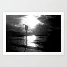 On the dock of the Bay! Art Print