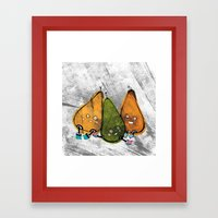 Drunken Pears Brothers Framed Art Print