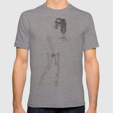 No.2 Fashion Illustration Series Mens Fitted Tee Athletic Grey SMALL