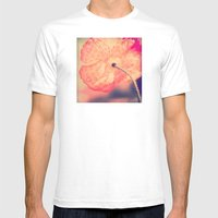 La Bohême, Carefree Poppy Flower Lomo SQ Mens Fitted Tee White SMALL
