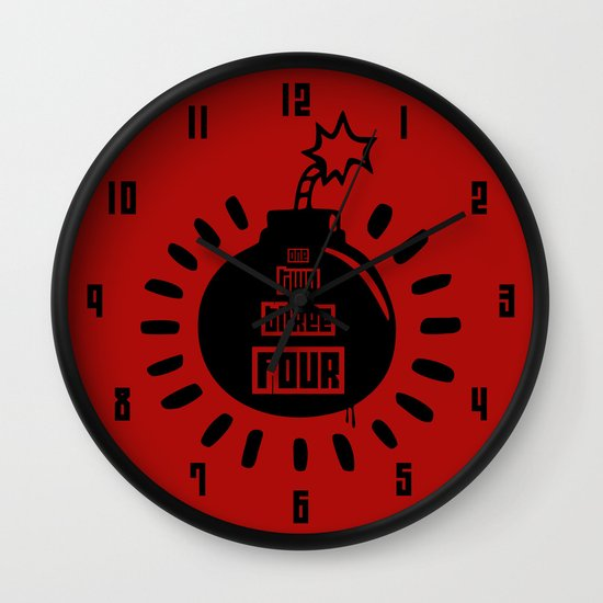 One, Two, Three, Four Wall Clock