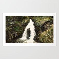 Sitting Lady Falls [16:9] Art Print