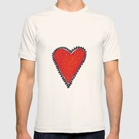 I HEART YOU Mens Fitted Tee Natural SMALL