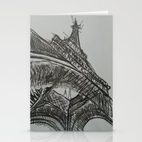 eiffel Stationery Cards featuring Eiffel by Esteban Garza